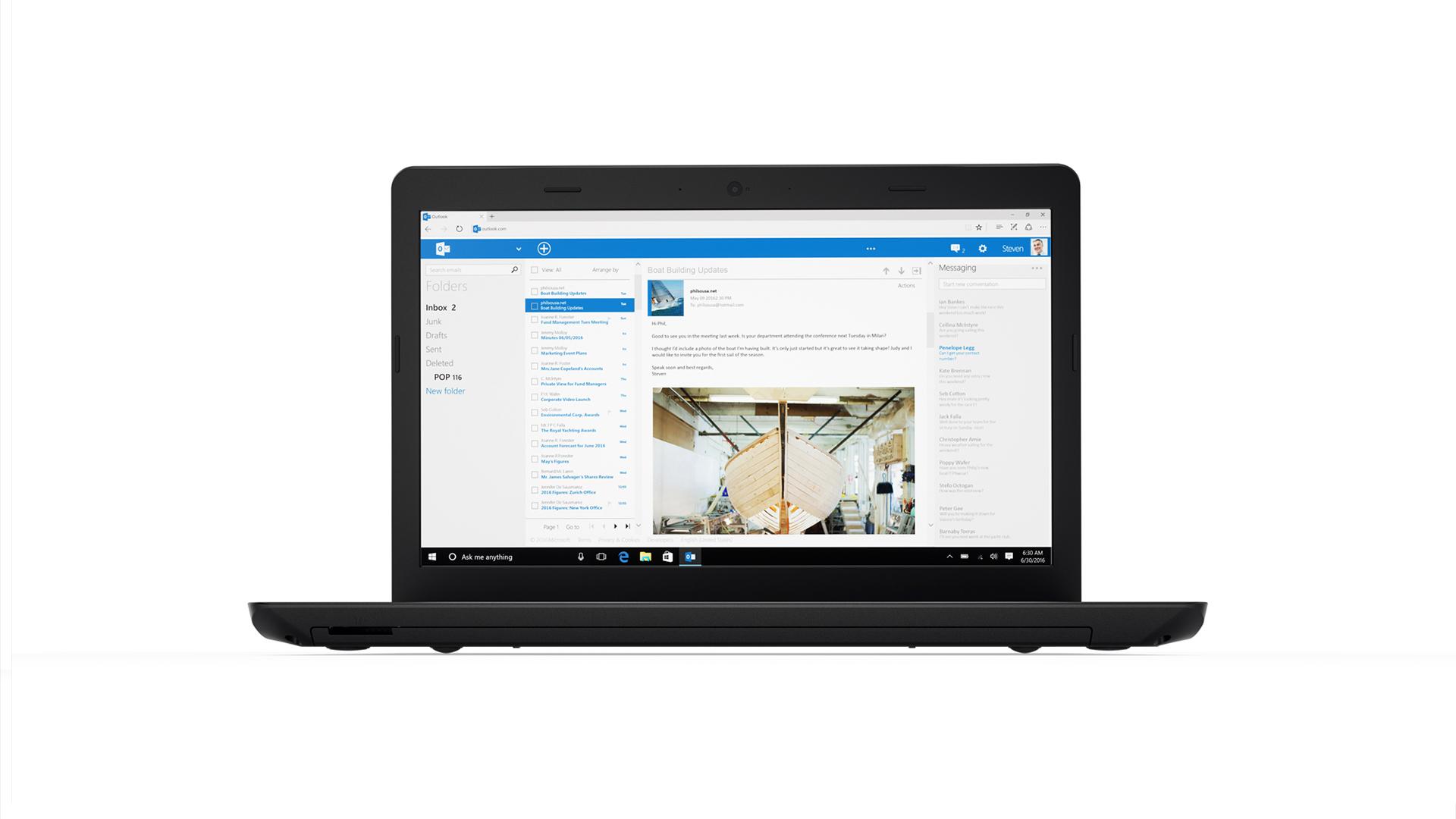 "Lenovo ThinkPad E570 2.7GHz i7-7500U 15.6"" 1366 x 768Pixel Nero Computer portatile"