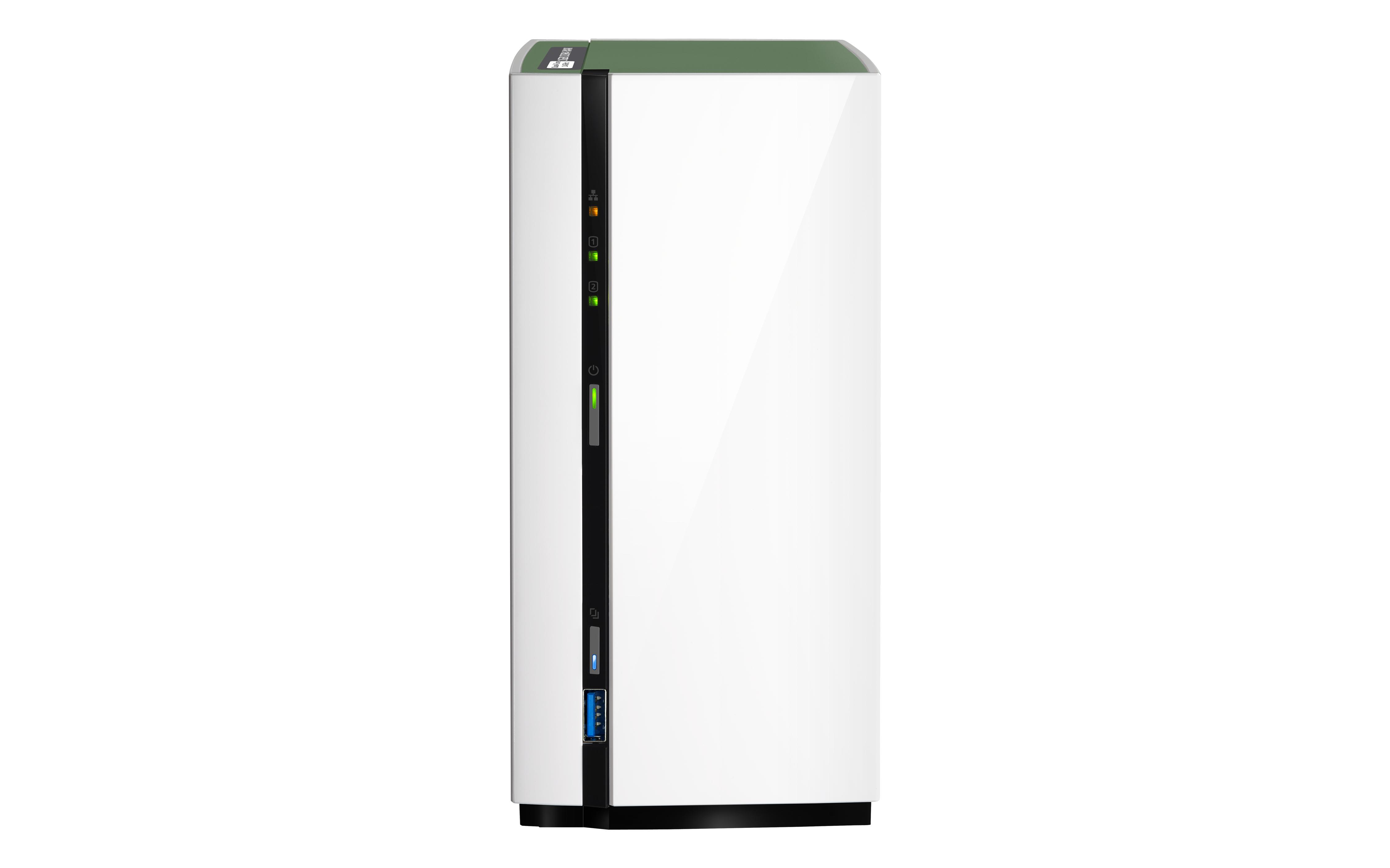 QNAP TS-228A NAS Mini Tower Collegamento ethernet LAN Bianco server NAS e di archiviazione