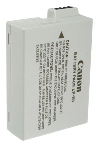 CANON LP-E8 Battery - Lithium Ion (Li-Ion) - For Camera - Battery Rechargeable