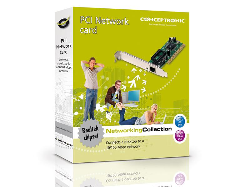 Conceptronic Scheda di rete PCI con Wake up On Lan