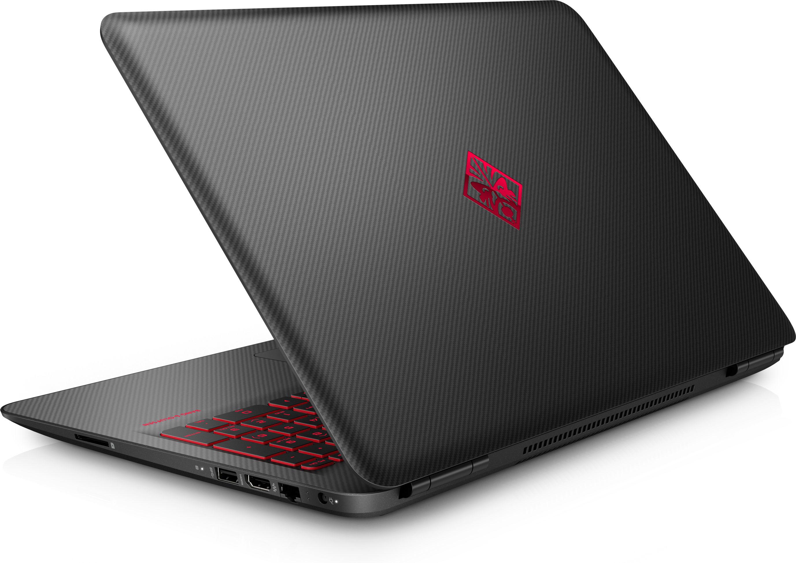 """HP OMEN 15-ax280no 2.5GHz i5-7300HQ 15.6"""" 1920 x 1080Pixel Nero, Carbonio, Rosso Computer portatile"""