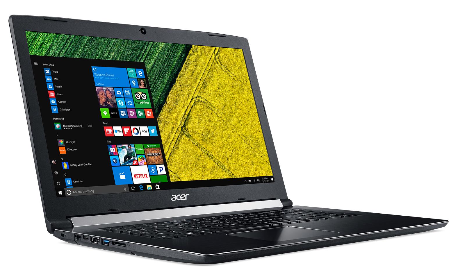 "Acer Aspire 5 Pro A517-51P-34VV 2.2GHz i3-8130U 17.3"" 1600 x 900Pixel Nero Computer portatile"