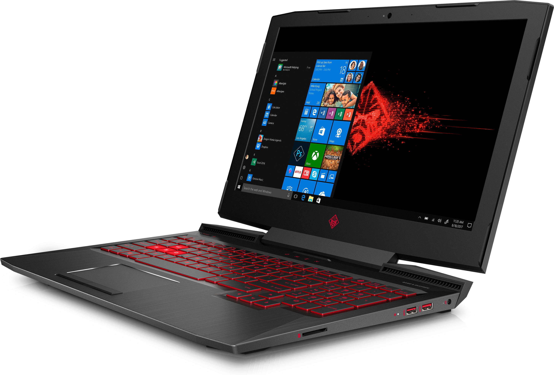 "HP OMEN 15-ce061ur 2.8GHz i7-7700HQ 15.6"" 1920 x 1080Pixel Nero Computer portatile"