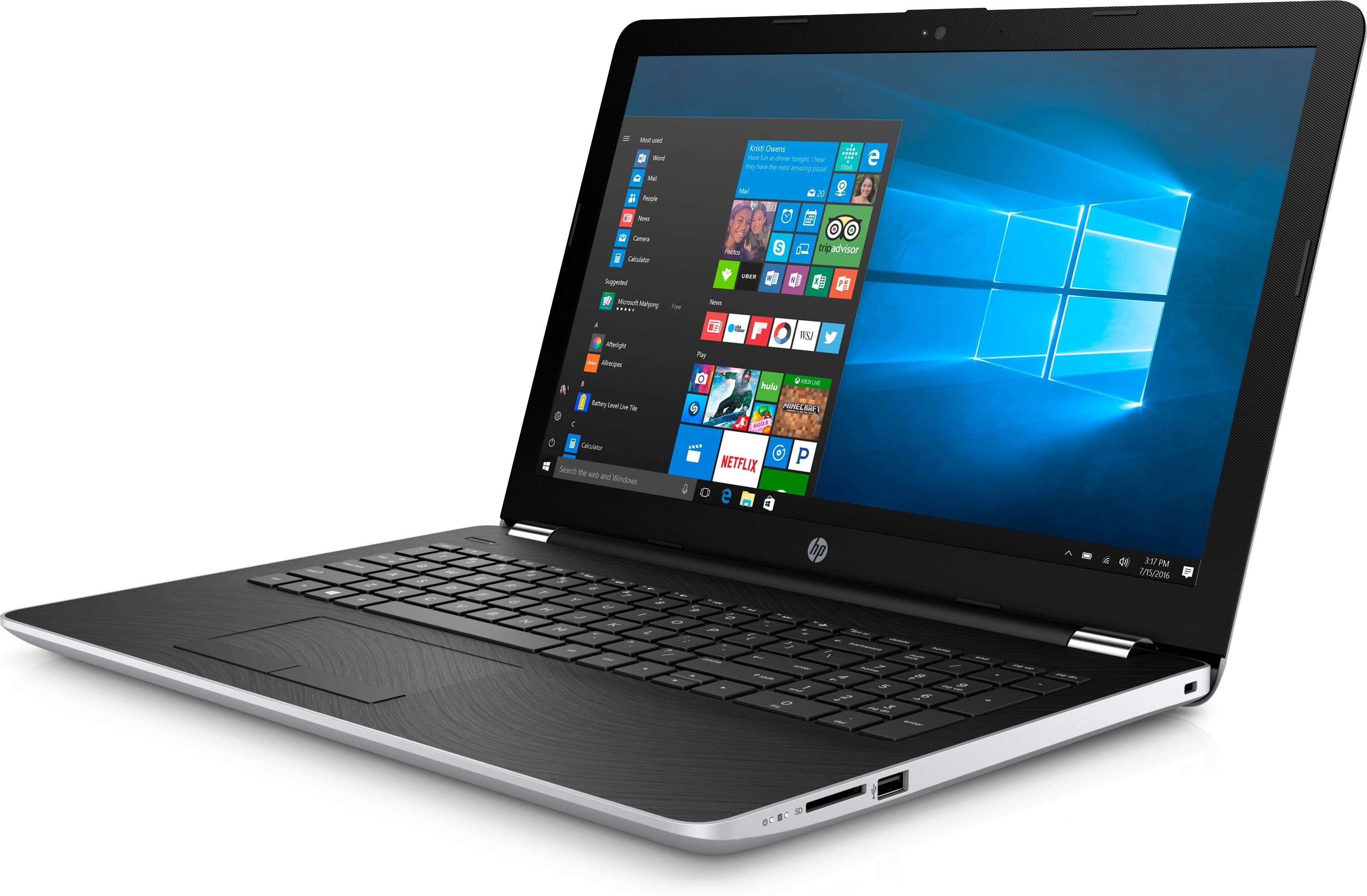 "HP 15-bw016au 2.5GHz A6-9220 15.6"" 1366 x 768Pixel Nero, Argento Computer portatile"