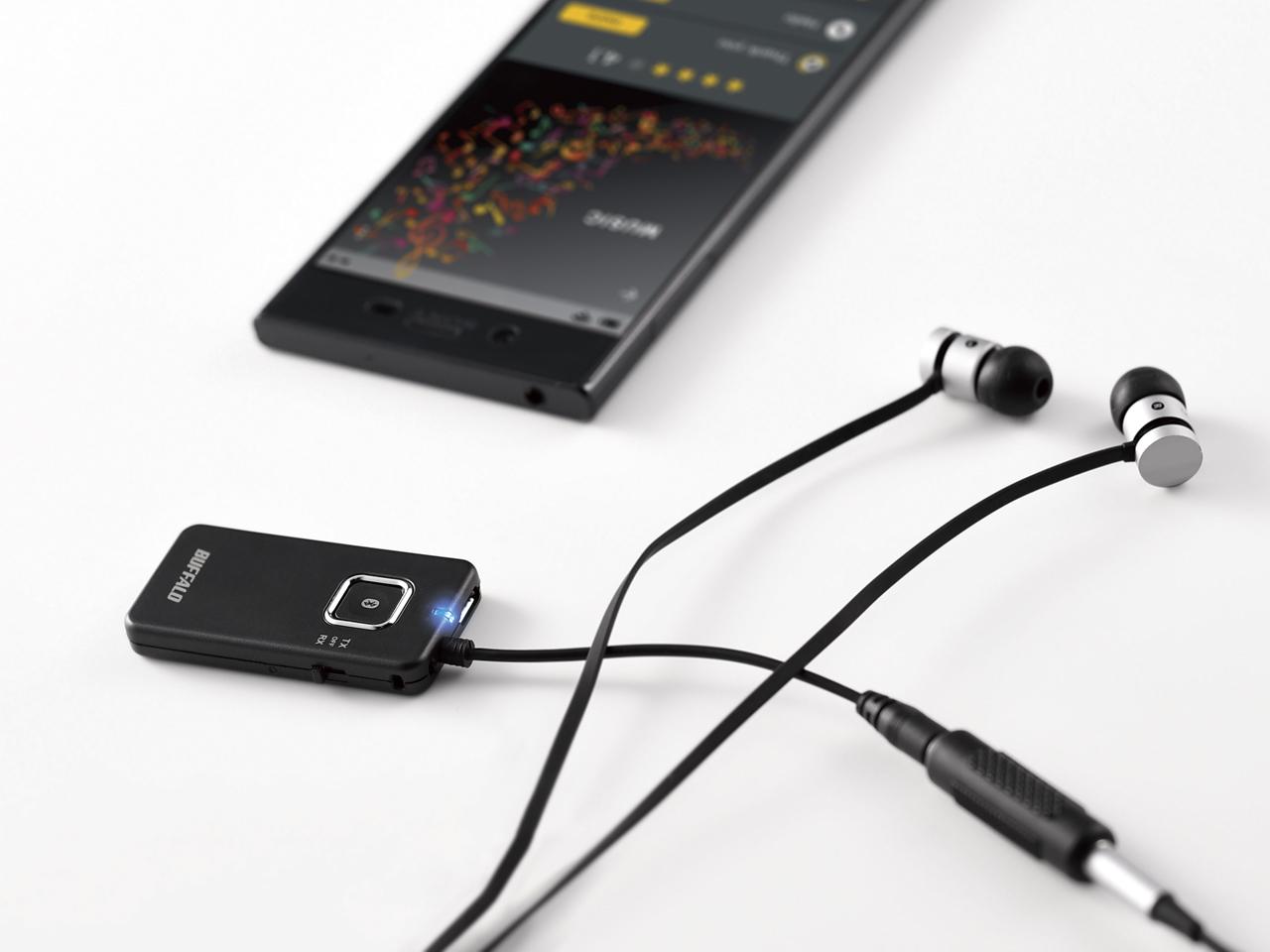 Buffalo BSHSBTR500BK 3,5 mm 10m Nero trasmettitore audio Bluethooth