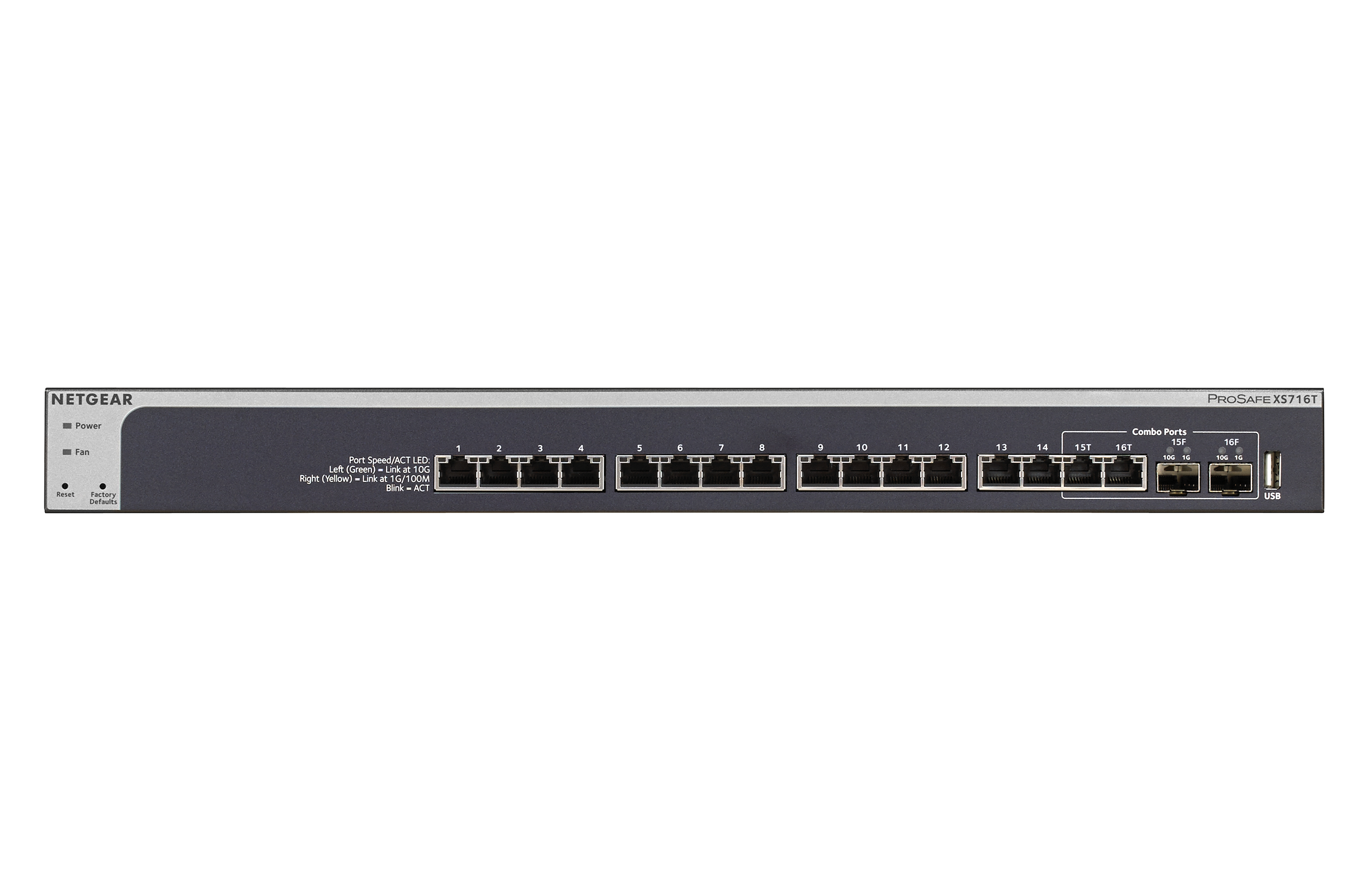 Netgear 16 Port 10gb Smart Mgd Switch Xs716t 100nes Eet Europarts