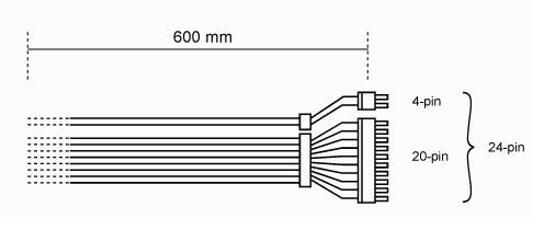 Listan 61 cm Connector Cable - Black