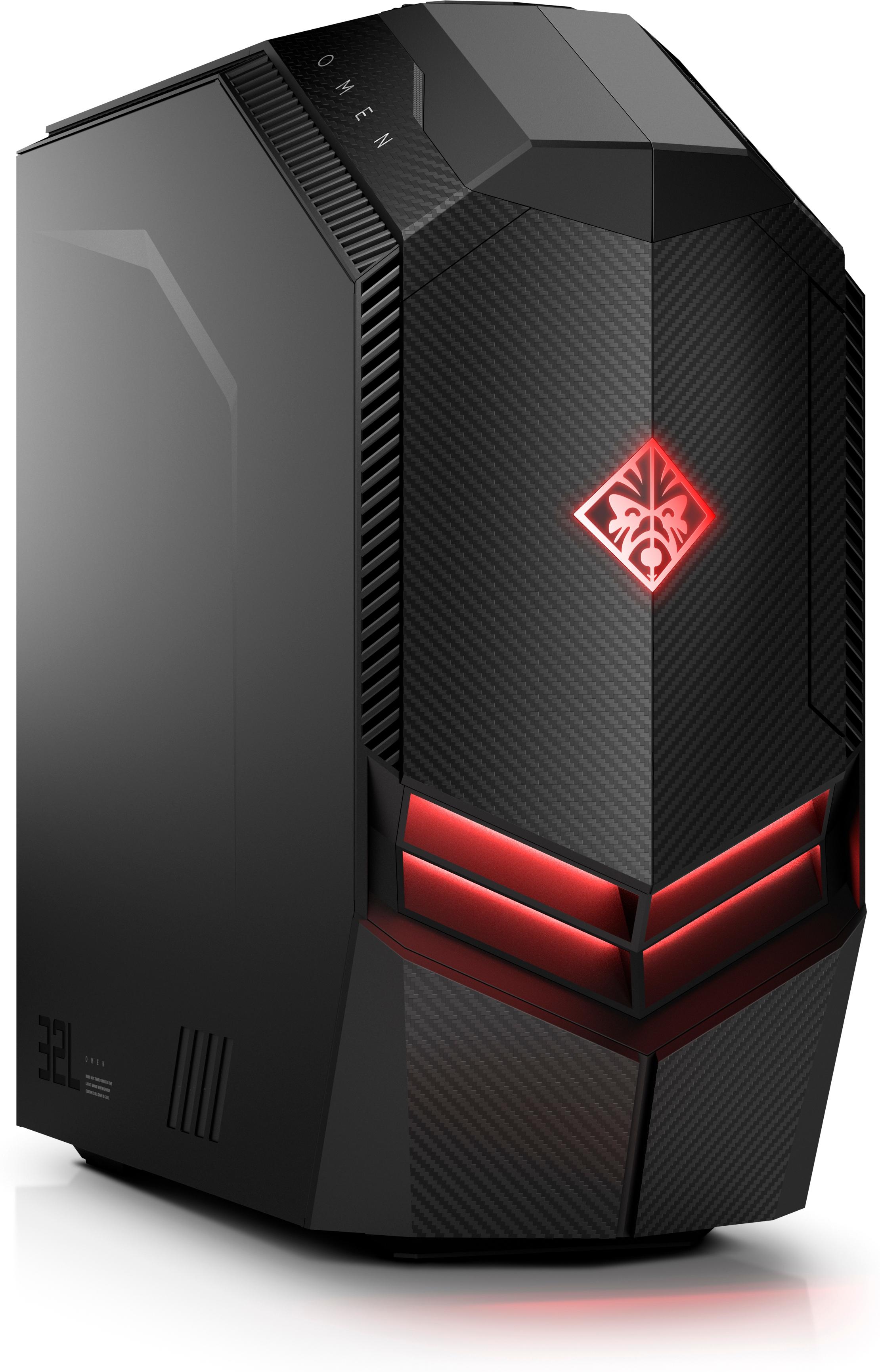 HP OMEN 880-168na 3,2 GHz Intel® CoreT i7 di ottava generazione i7-8700 Nero Scrivania PC