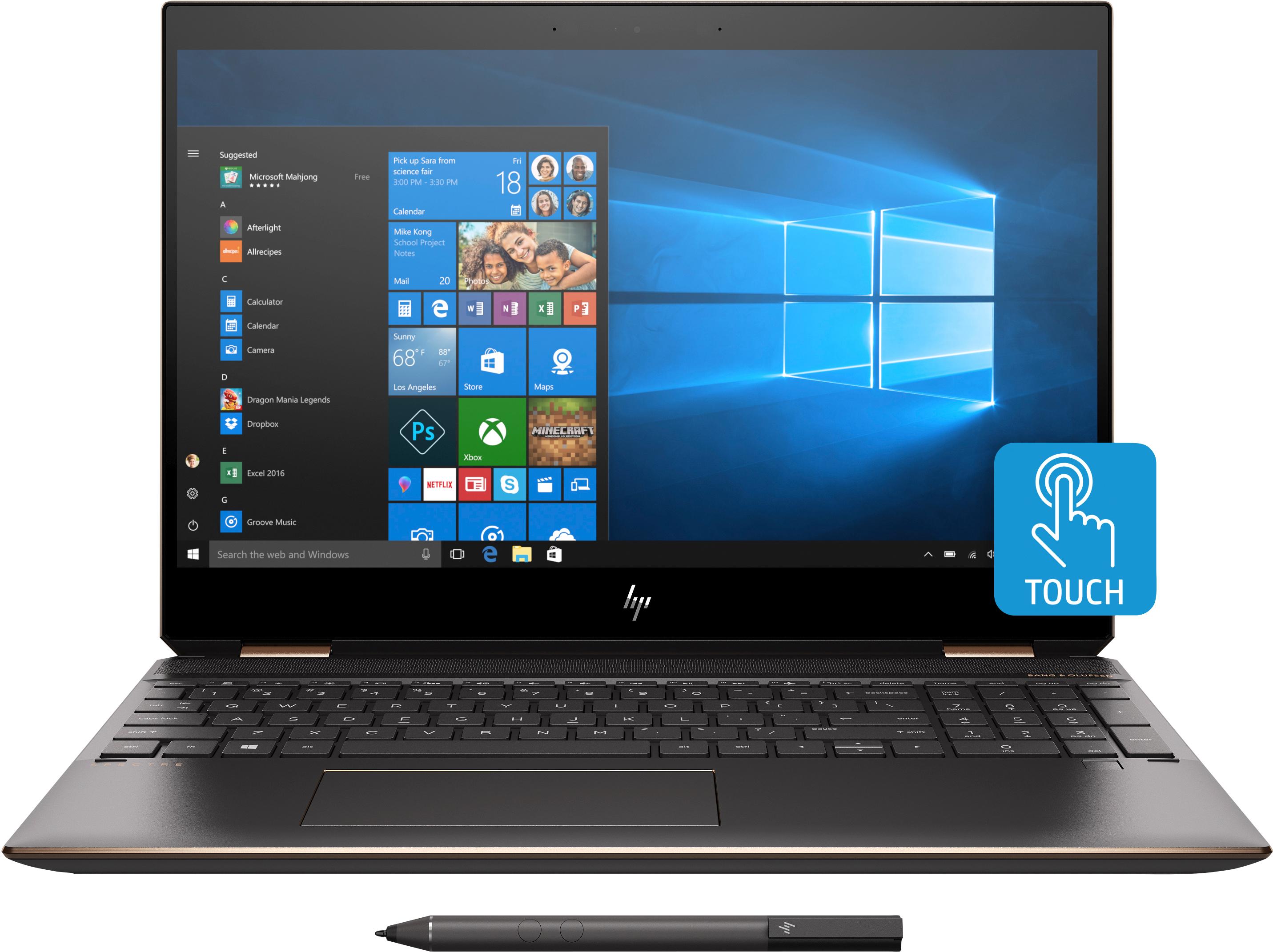 "HP Spectre x360 15-df0400nd Grigio, Argento Ibrido (2 in 1) 39,6 cm (15.6"") 1920 x 1080 Pixel Touch screen 2,2 GHz Intel® CoreT i7 di ottava generazione i7-8750H"