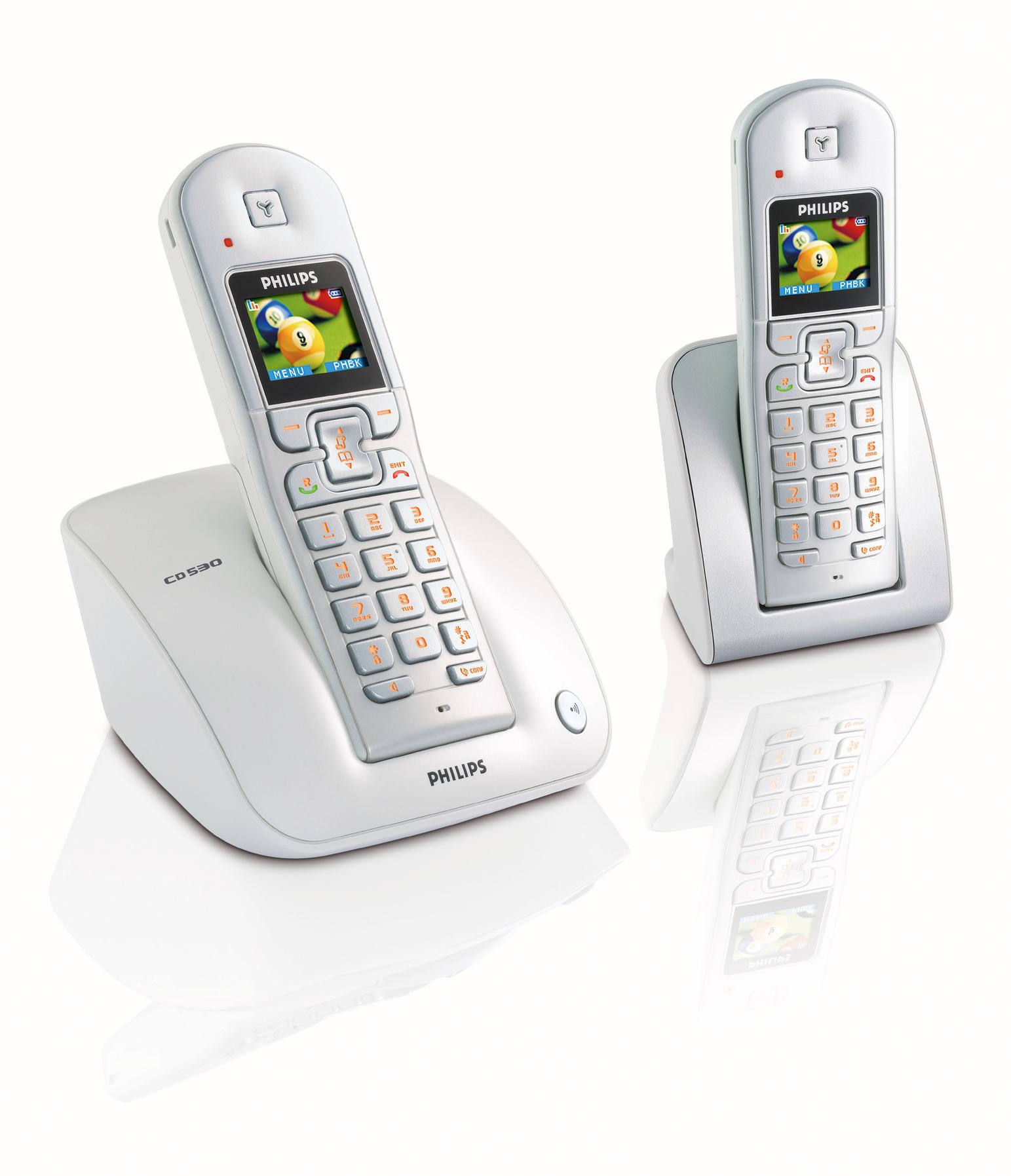 Philips CD5302S/02 Telefono DECT Identificatore di chiamata telefono