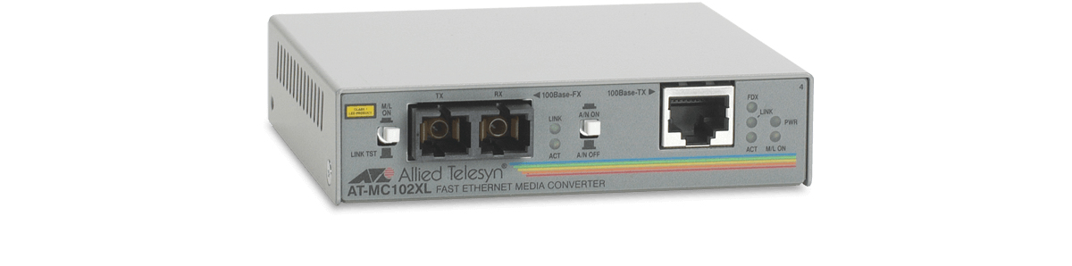 Allied Telesis 100TX to 100FX (SC) media converter 100Mbit/s 1310nm convertitore multimediale di rete