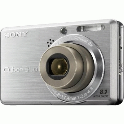 """Sony Cyber-shot DSC-S780 Fotocamera compatta 8.1MP 1/2.5"""" CCD 3264 x 2448Pixel Argento compact camera"""