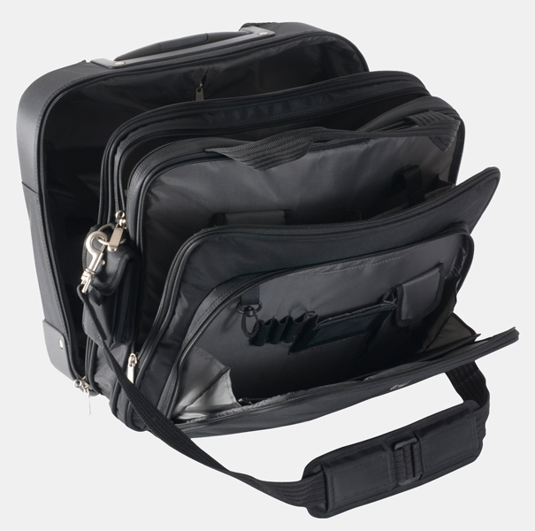 "V7 Rolling Travel Notebook Case 15.4"" Trolley case Nero"