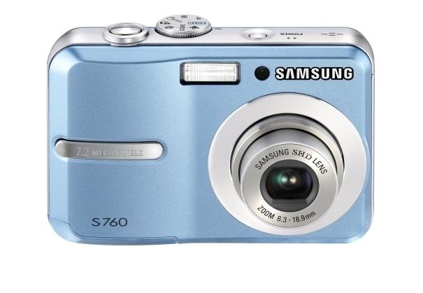 """Samsung S760 7.2MP 1/2.5"""" CCD Blu"""