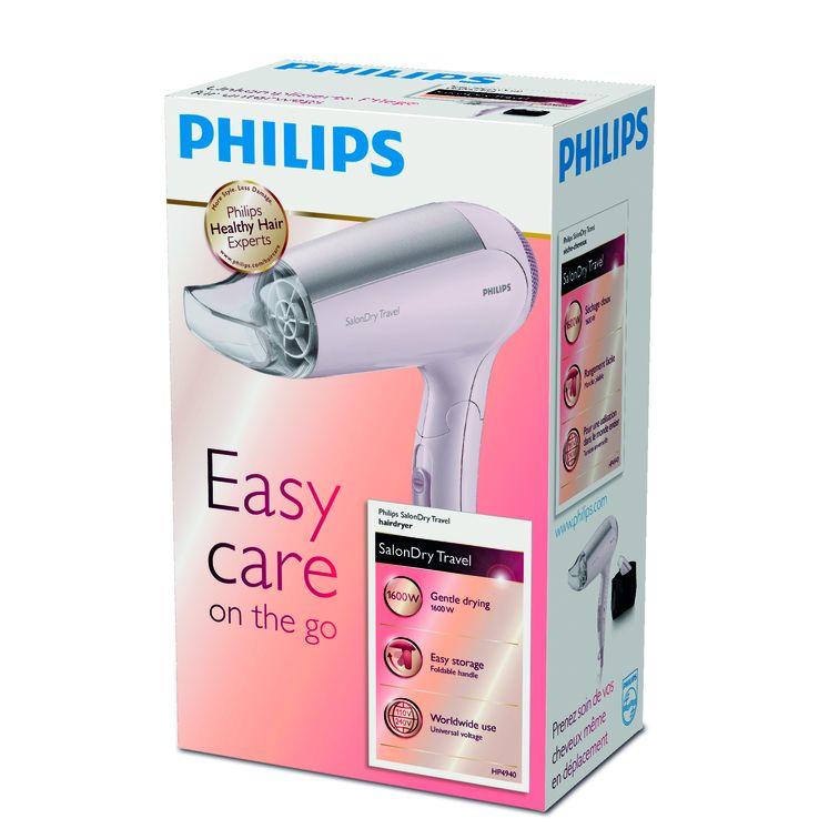 Philips SalonDry HP4940/00 1600W Rosa asciuga capelli