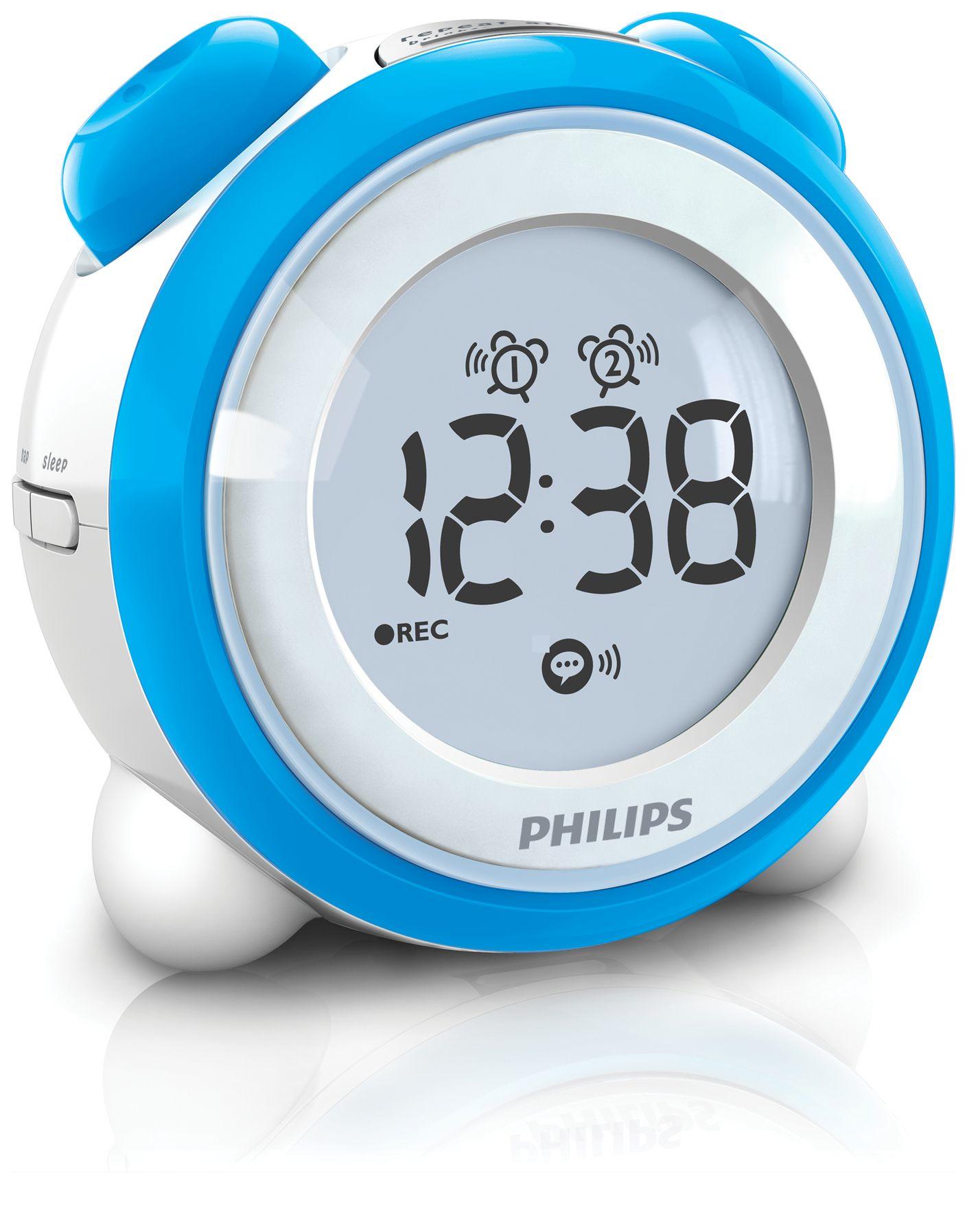 Philips AJ3138/05 Orologio Blu, Bianco radio