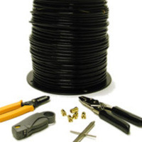 C2G 250ft RG6 Quad Shield Coaxial Cable Installation Kit 75m Nero cavo coassiale