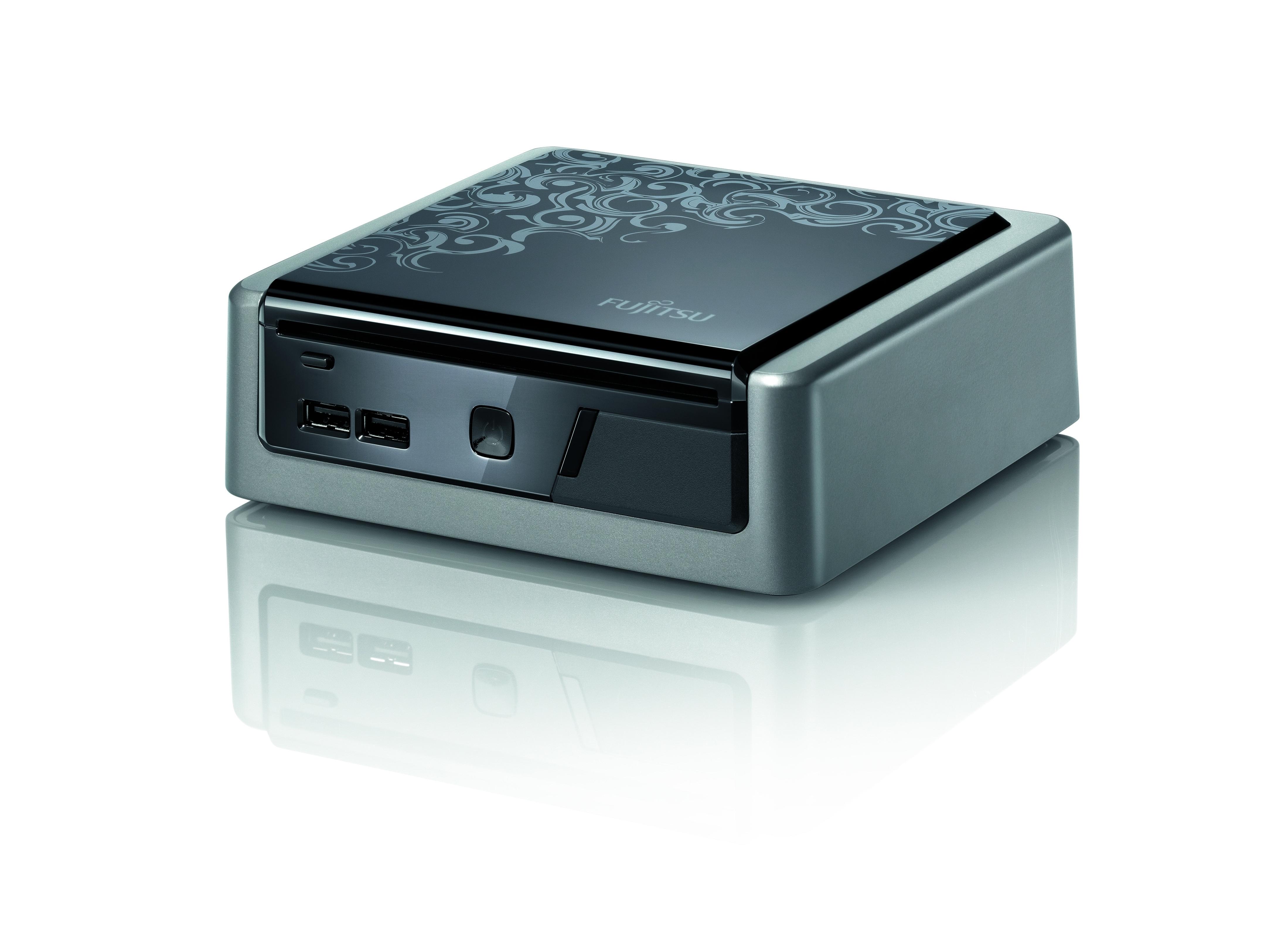 Fujitsu ESPRIMO Q1500 2.1GHz T4300 Desktop piccolo Nero, Argento PC