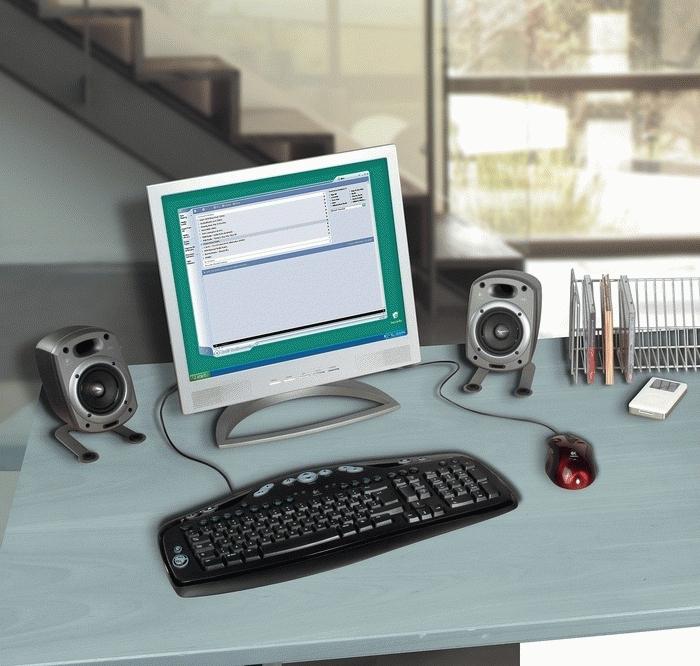 Logitech Media Keyboard Elite (German) USB+PS/2 Nero tastiera