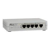 Allied Telesis 10/100/1000T 5 ports Unmanaged Gigabit Switch No gestito Bianco