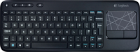 Logitech K400 RF Wireless AZERTY Inglese Nero tastiera