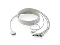Equip Apple 30-pin - USB + 3 x Composite 1.8m USB A Apple 30-p Bianco cavo USB