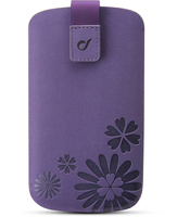 "Cellularline Tatto - Per Smartphone fino a 4"" Custodia a fondina con interno in microfibra Viola"