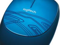 Logitech M105 USB Optisch Ambidextrous Blauw muis