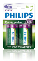 Philips Rechargeables Batteria R20B2A300/10