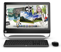 "HP TouchSmart 520-1210eo 2.7GHz i5-2390T 23"" 1920 x 1080Pixel Touch screen Nero, Argento PC All-in-one"