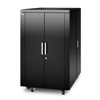 APC NetShelter CX Freestanding rack 24U 805kg Black rack