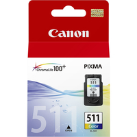 Canon CL-511 Colour Ciano, Giallo cartuccia d