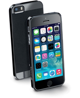 Cellularline Softslim - iPhone 5S/5 Custodie morbide ultra sottili in gomma soft touch Nero
