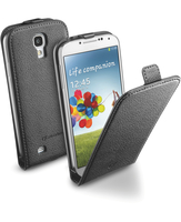 Cellularline Flap Essential - Galaxy S4 Value/ S4 Solida, robusta, si apre con una sola mano Nero