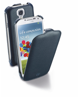 Cellularline Flap - Galaxy S4 Value/ S4 Custodia con apertura flap e finitura effetto pelle Blu