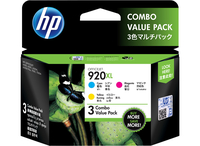 HP 920XL 3-pack High Yield Cyan/Magenta/Yellow Original Ink Cartridges Ciano, Giallo cartuccia d