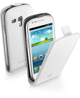 Cellularline Flap Essential - Galaxy S3 Mini Solida, robusta, si apre con una sola mano Bianco