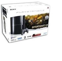 Sony 80GB PlayStation 3 + Resistance 2 80GB Wi-Fi Nero