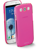 Cellularline Cool - Galaxy S3 Mini Value Edition/S3 Cover trasparente dai colori fluo super frizzanti Rosa