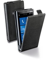 Cellularline Flap Essential - Lumia 920 Custodia con apertura flap e finitura effetto pelle Nero