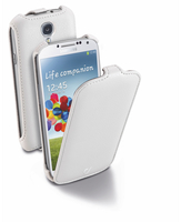 Cellularline Flap - Galaxy S4 Value/ S4 Custodia con apertura flap e finitura effetto pelle Bianco