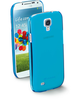Cellularline Cool - Galaxy S4 Value/ S4 Cover trasparente dai colori fluo super frizzanti Blu