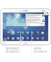 Cellularline Ok Display Anti-Trace - Galaxy Tab 3 10.1 Pellicola protettiva per display e retro del tablet Trasparente