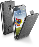 Cellularline Flap Essential - Galaxy S4 Mini Custodia con apertura flap e finitura effetto pelle Nero
