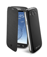 Cellularline Flip-Book - Galaxy S3 Neo /S3 Custodia a libro ultra-slim che esalta il design Nero