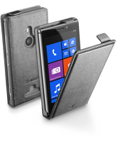 Cellularline Flap Essential - Lumia 925 Custodia con apertura flap e finitura effetto pelle Nero