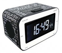 Bigben Interactive RR30 - Wake Up Orologio Digitale Nero, Bianco radio