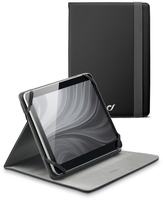 "Cellularline Stand Case - Tablet Fino a 10.1"" Custodia universale per tablet, elegante e pratica Nero"
