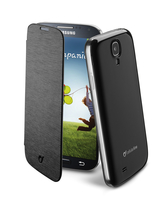 Cellularline Flip-Book - Galaxy S4 Value/ S4 Ultra-slim, design inalterato Nero