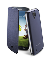Cellularline Flip-Book - Galaxy S4 Value/ S4 Custodia a libro ultra-slim che esalta il design Blu